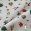 คอตตอนญี่ปุ่น ลายคริสต์มาส สีขาว เนื้อดีหมาะสำหรับงานผ้าทุกชนิด ตัด กระโปรง ทำกระเป๋า ปลอกหมอน และอื่นๆ thumbnail 3