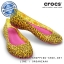 W6 (23.5 cm.) : Women's Crocs Carlisa Brushed Leopard Print Flat - Burst / Fuchsia ของแท้ Outlet ไทยและอเมริกา thumbnail 1