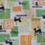 คอตตอนลินินญี่ปุ่นลาย Patchwork น้องแมวโทนเขียว thumbnail 2