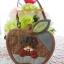 กระเป๋า ทูอินวัน ทรงแอปเปิ้ล เป็นที่ใส่กุญแจได้ มีช่องใส่เหรียญและสายคล้องมือ ควิลล์มือทั้งใบ ขนาด กว้าง 13 ซม สูง 10 ซม thumbnail 1