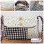 กระเป๋าผ้า แฮนด์เมด ญี่ปุ่น ลายสก็อต สีดำ แต่งด้วยผ้าลายจุด มีสายสะพายไหล่ สวยน่ารักๆค่ะ ((โปรโมชั่นส่งฟรี)) thumbnail 1