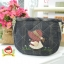 กระเป๋าคล้องมือ ผ้าทอญี่ปุ่น ใส่ของจุกจิกสไตล์ คันทรี ต่อผ้า ควิลล์มือทั้งใบ ขนาดกระทัดรัด ขนาด กว้าง 17 ซม สูง 13ซม ฐานกว้าง 8.5 ซม thumbnail 1