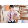 เสื้อผ้าเด็ก ชุดเด็กขายส่ง : เสื้อเชิ้ตเด็กผู้ชาย สีขาว ชมพู ฟ้า