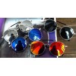 กรอบแว่นตากันแดดแฟชั่นแบบบาร์ retro vintage ปรอท (แดง เงิน ดำ )