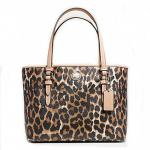 กระเป๋า COACH PEYTON OCELOT PRINT TOP HANDLE TOTE F52533