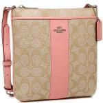 กระเป๋า COACH SIGNATURE COATED CANVAS WITH LEATHER NORTH/SOUTH CROSSBODY F52856