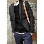 หลากสี!! เสื้อสูทปกปิด เกาหลี ทรงสลิมฟิต ผ้าสูทเนื้อดี สีดำ size No.38 40