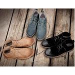 รองเท้าหนังกลับหุ้มข้อชาย หัวพ่น สีดำ,กากี เทา No.38-44