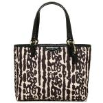 COACH Signature Ocelot Top Handle Tote F51819