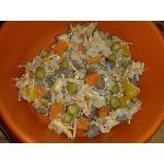 อาหารกระป๋องเปลือยขนาด 170 กรัม รสไก่ฉีกในซุบ แพค 12-45 กป.