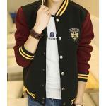 เสื้อแจ็คเก็ตเบสบอล โลโก้ แดงเข้มดำ ริบเหลืองNo.38 40 42 44