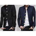 เสื้อสูทตัวเล็ก คอจีน กระดุมปั๊มเหล็ก สไตล์ น.ร. ญี่ปุ่น Size No.35 37-39-41 น้ำเงิน ดำ