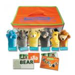 ของเล่นเด็ก ของเล่นเสริมพัฒนาการ หุ่นมือ ชุดสัตว์ป่า 6 ตัว