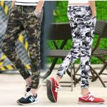 กางเกงขาจั๊มพ์4ส่วน แนวๆ พรางทหาร ใส่สบาย สีขาว เขียว size 28-36