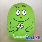 หมอนอิง รูปไข่ เม็ดโฟม ผ้าสแปนเด็กซ์(Spandex) Lovely สูง12นิ้ว สีเขียว