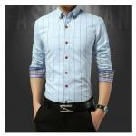 เสื้อเชิ้ตแขนยาวสีฟ้า SizeM