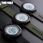 นาฬิกา SKMEI 1213 SPORTWATCH เข้ม สวย ทน มีสไตร์ สีดำ/สีเขียวทหาร