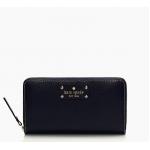 กระเป๋าสตางค์ Kate Spade รุ่น Neda Leather Wellesley Black Wallet WLRU1153