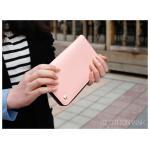 Crown Zip Smart wallet_Cotton Pink
