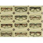 หลากสีหลายแบบ!!กรอบแว่นตาแฟชั่น แบบขาลายไม้ (ดำเงา ดำด้าน)