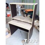 """โต๊ะต่างระดับ 3 ชั้น """"เมลามีน"""" สี : ลายไม้ สไตล์ Loft"""