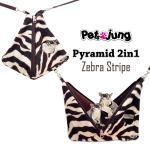 PJ-PYR001-BRZE PetsJunG - Pyramid 2in1 บ้านปิรามิด 2in1 ลายม้าลาย สีน้ำตาล