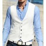 เสื้อกั๊กชาย แฟชั่น กระดุม 5เม็ด Size No.34 36 38 40 42 สีขาว ดำ