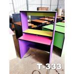 """โต๊ะต่างระดับ 3 ชั้น """"เมลามีน"""" สี : ชมพู-เหลือง-เขียว-ม่วง"""