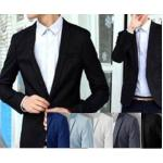 หลากสีเล็กพิเศษ!! เสื้อสูทตัวเล็ก ทรงสลิมฟิต ปกเปิด สุดคุ้ม Size No.34 36 38 40ฟ้าอ่อน ฟ้าเข้ม เทา ขาว ดำ