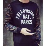 หลากสี!!เสื้อแขนยาว สวมหัว sweaterตัดต่อแขนพราง สีฟ้า ดำ ขาว No.38 40 42 44 46