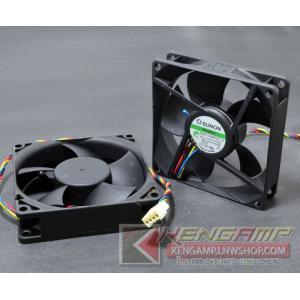 SUNON PMD1208PKV1-A (12V, 0.39A, 4.8W, 4600RPM, 53CFM, ขนาด 80x80x20mm)