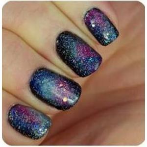 วิธีทำเล็บแบบ Galaxy Nail