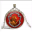 Silver Gryffindor crystal necklace thumbnail 1