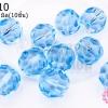 คริสตัลจีน กลมเจียรเหลี่ยม สีน้ำเงินอ่อนใส 12มิล(10ชิ้น)