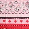 คอตตอนญี่ปุ่น ลาย Alice In Wonderland แนวเทพนิยายโทน ชมพู - แดง ขายที่ 1/2 เมตรเป็นต้นไป เหมาะสำหรับงานผ้าทุกชนิด ตัด กระโปรง ทำกระเป๋า ปลอกหมอน และอื่นๆ