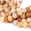 หินเกร็ดมังกร สีส้ม 14 มิล (จีน) (1เส้น)