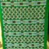 ผ้าปักมือ พื้นสีเขียว ลายโบราณ (1คู่)