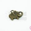 จี้ทองเหลือง ช้างลายดอก 13x16 มิล(1ชิ้น)