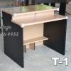 """โต๊ะคอมพิวเตอร์ต่างระดับ ตัวล่ะ 1180 บาท T-114 บีช/ขาดำ """"เมลามีน"""""""