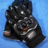 ถุงมือมอเตอร์ไซค์หนัง แบบเต็มมือ PRO-BIKER ดำ