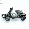 จี้รถเวสป้าสีรมดำ 39X52 มิล (1ชิ้น)