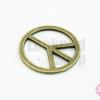 จี้ทองเหลือง รูปPeace 22 มิล(1ชิ้น)