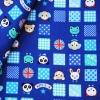 คอตตอนลินินญี่ปุ่นลายสัตว์น่ารัก โทนสีน้ำเงิน เนื้อหนานิ่ม เหมาะทำกระเป๋า ปลอกหมอน ปูโต๊ะ