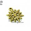 จี้ทองเหลือง รูปหิมะ 15 มิล (1ชิ้น)