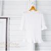 เสื้อถักสีขาว แขนยาว
