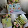 กระเป๋าเงิน ยาว แบบ 2 ชั้น ใส่บัตรจุใจได้ 25 บัตร ผ้าญี่ปุ่นแท้ทั้งใบ ซักได้