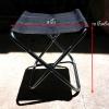 เก้าอี้พับแบบพกพา ขาสแตนเลส แข็งแรง ทนทาน