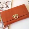 พร้อมส่ง กระเป๋าเงินใบยาว MUSE สีส้มอิฐ งานหนังแท้ทั้งใบ แบบสวยเก๋ ค่ะ