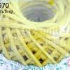 เชือกป่านย้อมสี สีเหลือง #05 เส้นใหญ่ (1ม้วน)