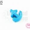 จี้โรเดียม สมอเรือ สีฟ้า 28 มิล (1ชิ้น)